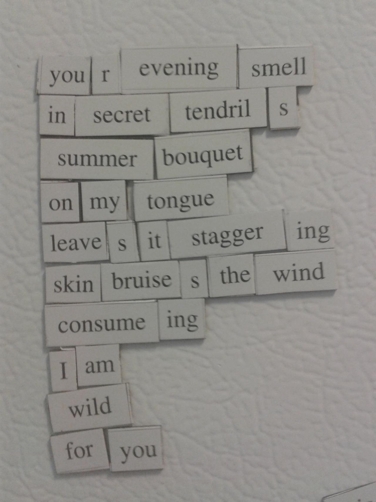 Fridge Poems